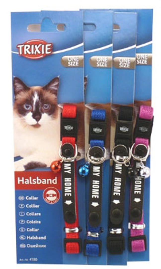 Trixie Cat Collar - My Home (Red, Blue, Black or Purple) image 0