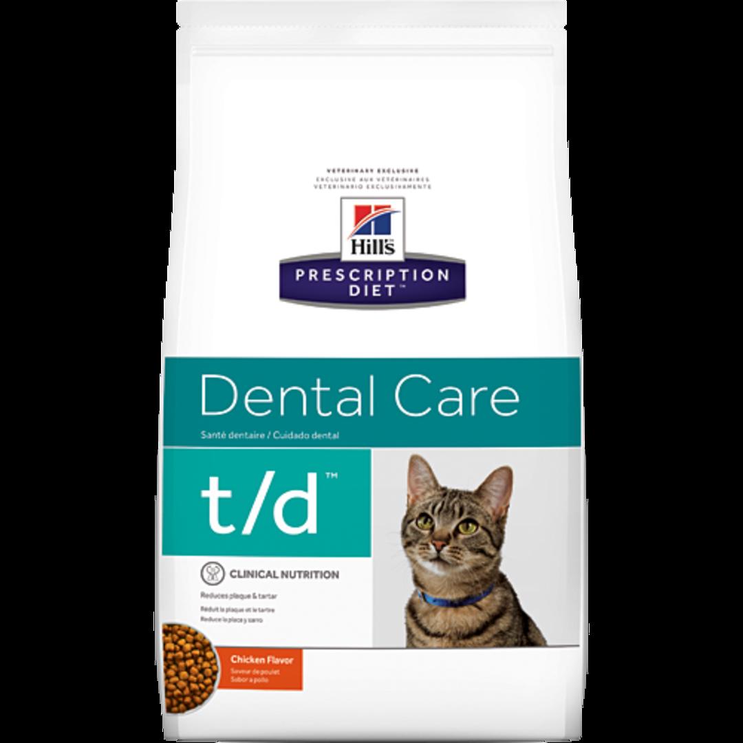 Hill's Prescription Diet Feline Dental Care t/d for Cats 1.5kg image 0