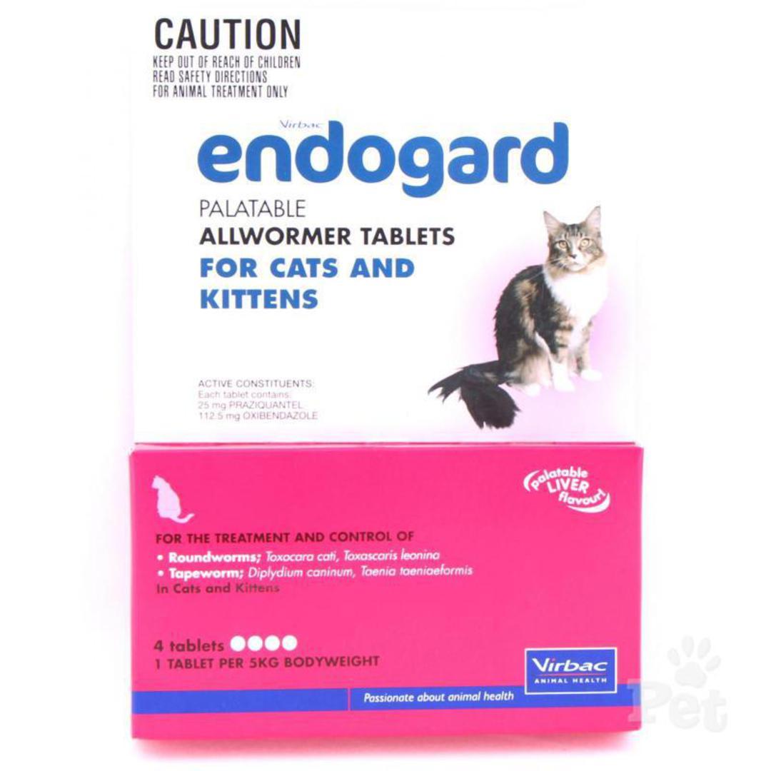 Endogard Palatable Allwormer Tablet for Cats & Kittens (5kg/4tablet) image 0