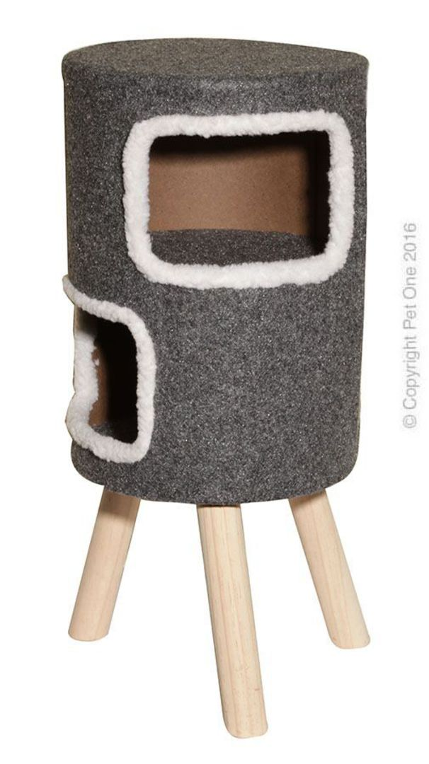 Pet One Cat Scratching Tree Round with 2 Cubbie image 0