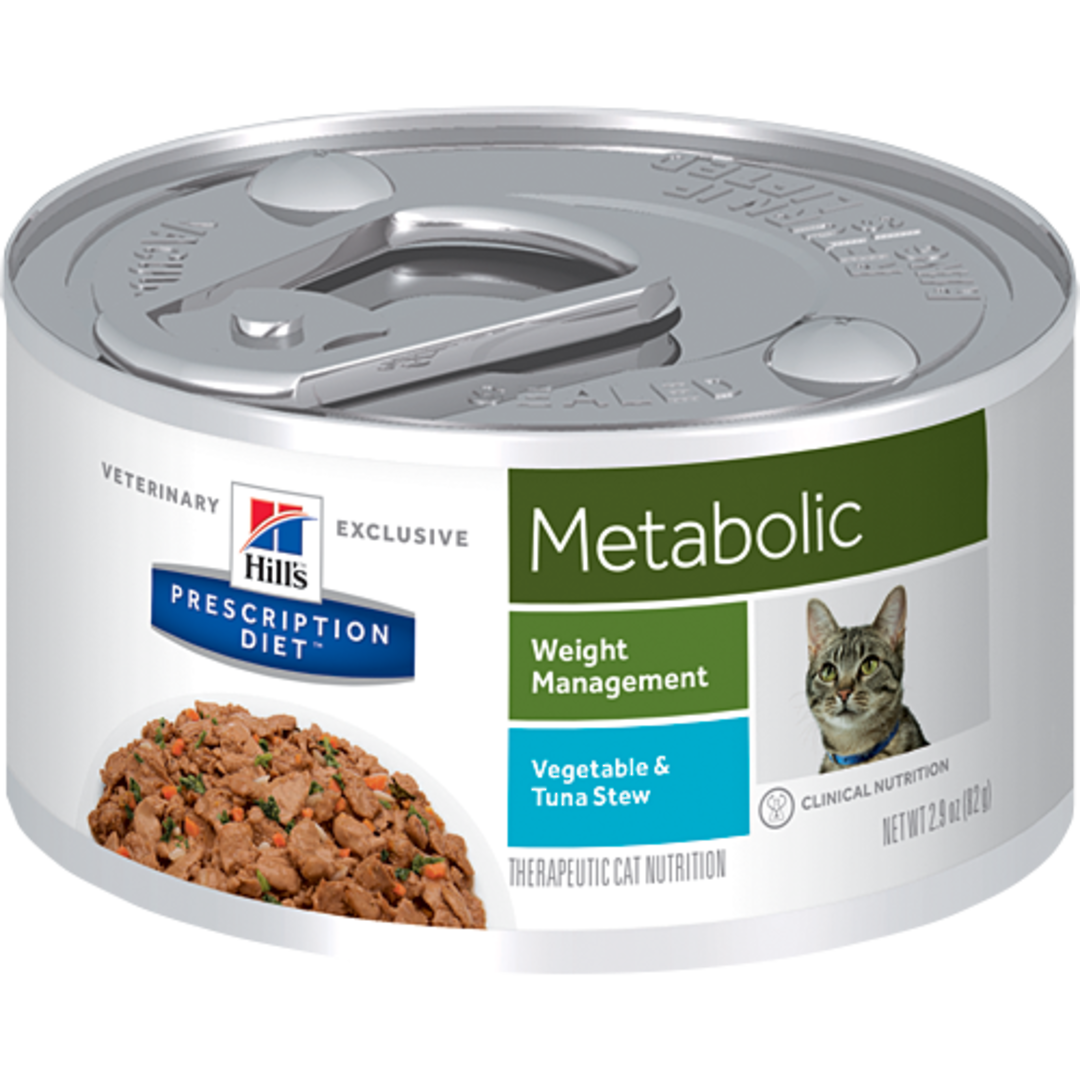 Hill's Prescription Diet Feline Metabolic Cans Tuna & Vegetable Stew for Cats 82g image 0