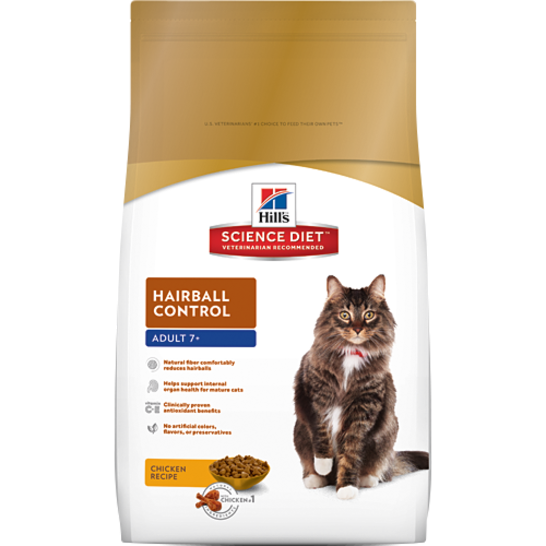 Hill's Science Diet Hairball Control for Adult 7+ Cat 4Kg image 0