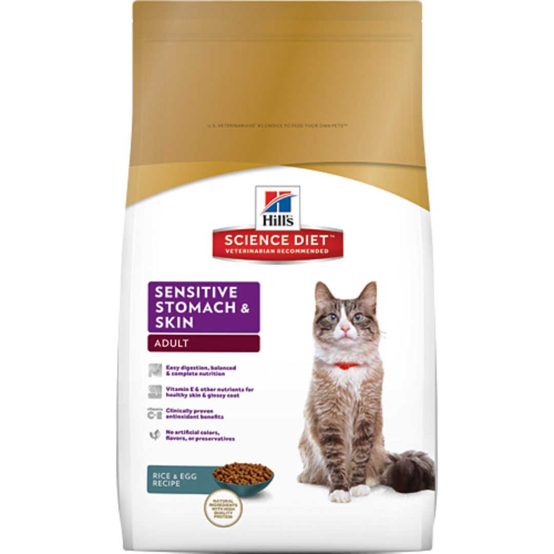 Hill's Science Diet Sensitive Stomach & Skin for Adult Cat 1.58Kg image 0