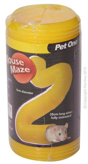 Pet One Tunnel Mouse Maze 5cm(D)x35cm(L)
