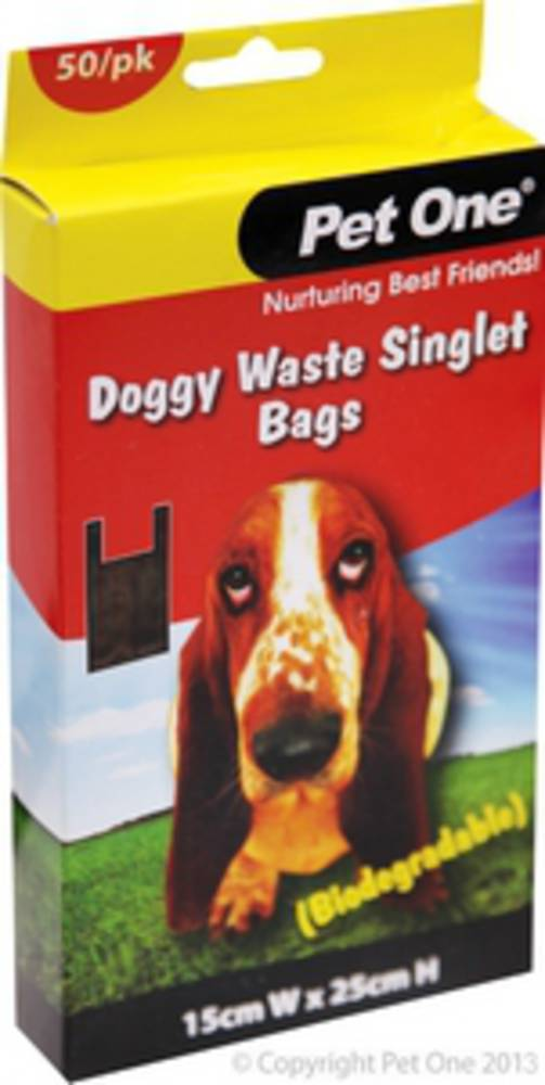 Pet One Doggy Waste Singlet Bags 50bags (Biodegradable)