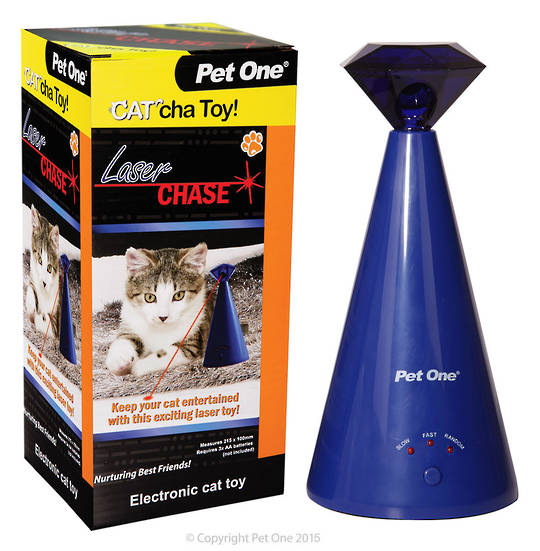Pet One Cat Toy Cat'cha Laser Chase Batt