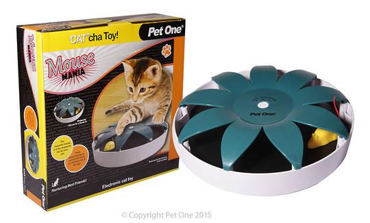 Pet One Cat Toy Cat'cha Mouse Mania Batt