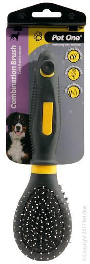 Pet One Combination Bristle & Metal Pin Brush (S)
