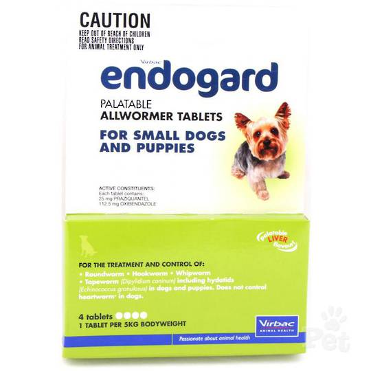 Endogard Palatable Allwormer Tablet for Dogs (5kg/4tablets)
