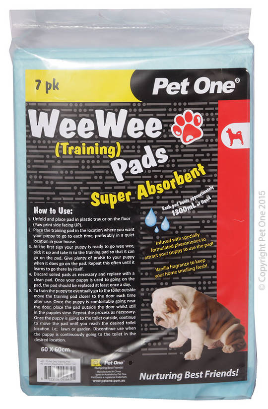 Pet One Wee Wee Training Pads 7pk