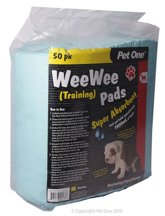 Pet One Wee Wee Training Pads 50pk