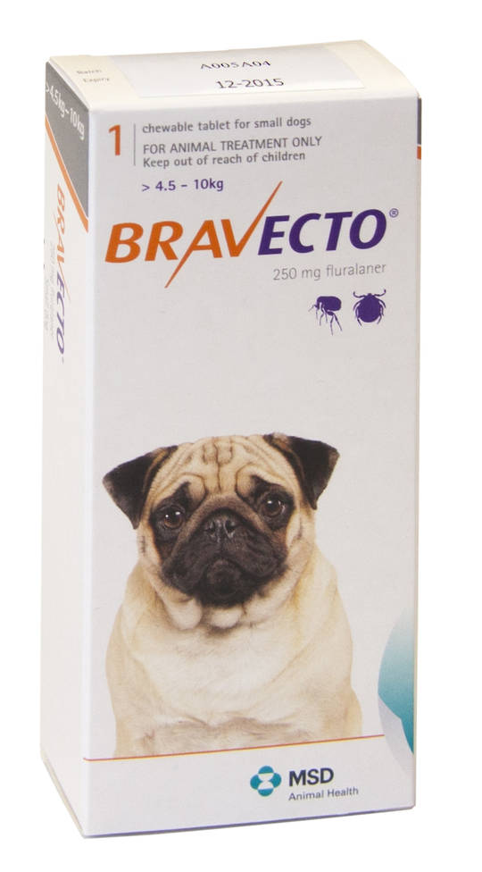 Bravecto  Chewable Flea Treatment for Small Dogs (Orange)