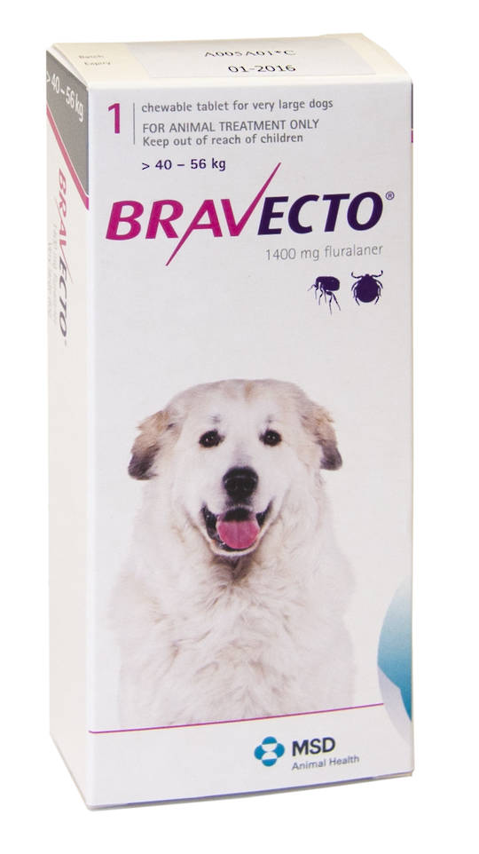 Bravecto Chewable Flea Treatment for Very Large Dogs (Pink)