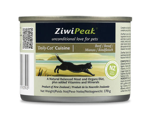 ZiwiPeak Daily Cat Moist Beef Cuisine 170g