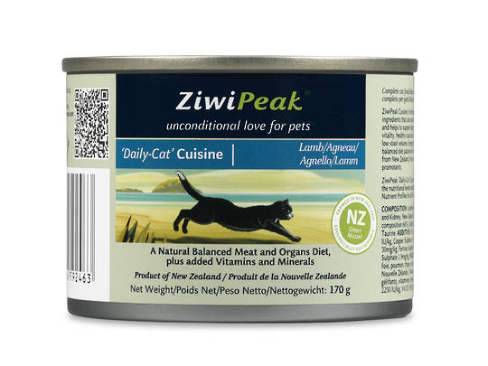ZiwiPeak Daily Cat Moist Lamb Cuisine 170g