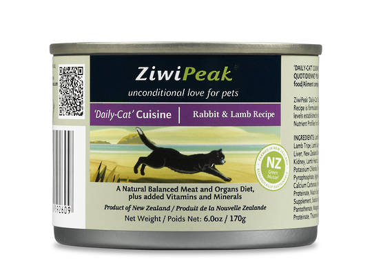 Ziwi Peak Moist Rabbit & Lamb Cat Cuisine 170g