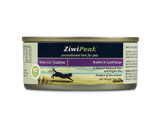 Ziwi Peak Moist Rabbit & Lamb Cat Cuisine 85g