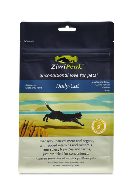 ZiwiPeak Daily Cat Air Dried Lamb Cuisine 400g