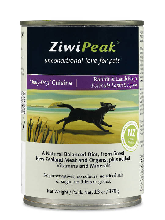 Ziwi Peak Moist Rabbit & Lamb Dog Cuisine 370g