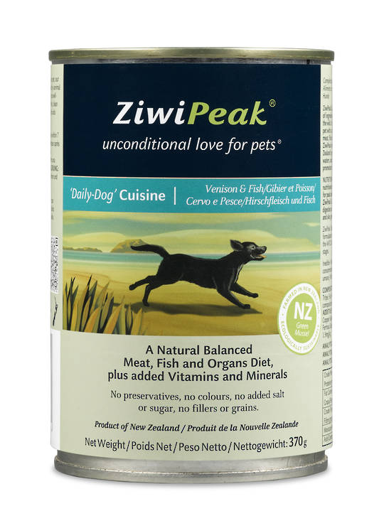 Ziwi Peak Moist Venison & Fish Dog Cuisine 370g