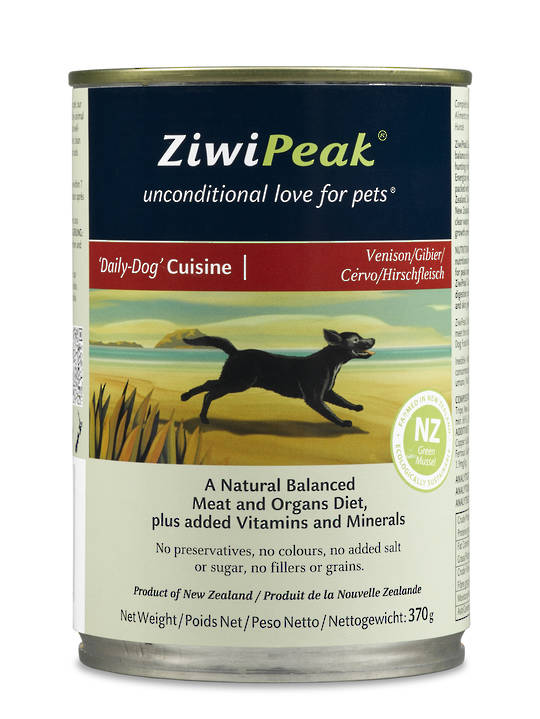 Ziwi Peak Moist Venison Dog Cuisine 370g