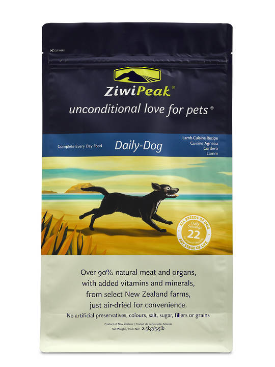 ZiwiPeak Air-Dried Lamb Dog Cuisine 2.5kg