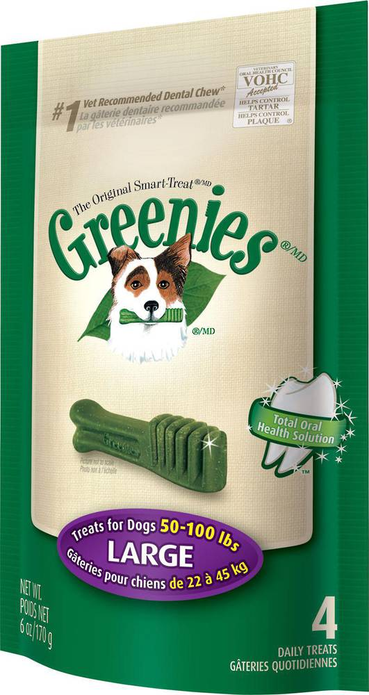 Greenies Canine Mini Treats for Large Dogs 170g / 4 Dental Chews