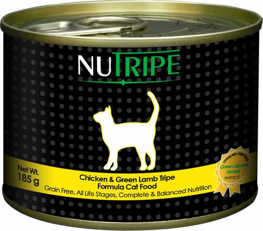 NUTRIPE Classic Chicken and Green Lamb Tripe Formula Cat Food 185g