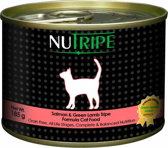 NUTRIPE Classic Salmon & Green Lamb Tripe Formula Cat Food 185g