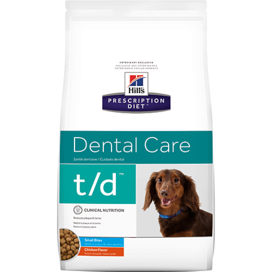 Hill's Prescription Diet Canine Dental Care t/d Small Bite for Dogs 2.25Kg