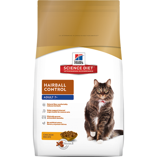 Hill's Science Diet Hairball Control for Adult 7+ Cat 2Kg