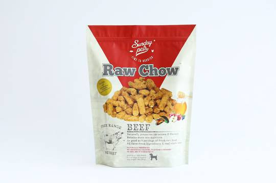 Sunday Raw Chow Beef 454g for Dogs and Puppies