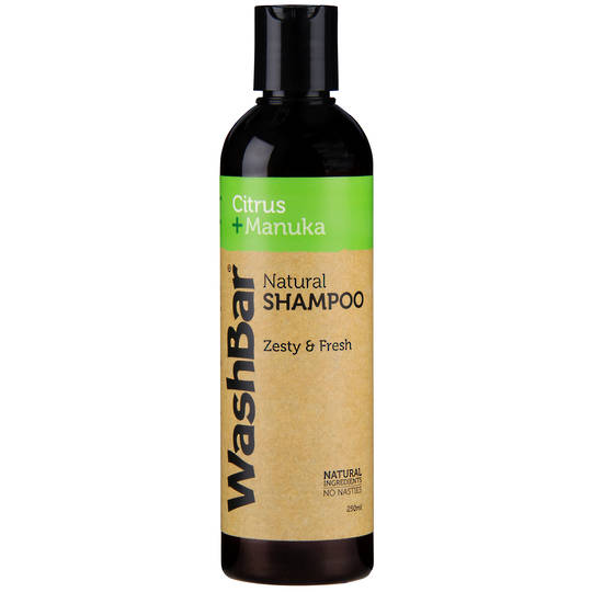 WashBar Natural Shampoo - Citrus and Manuka - 250ml