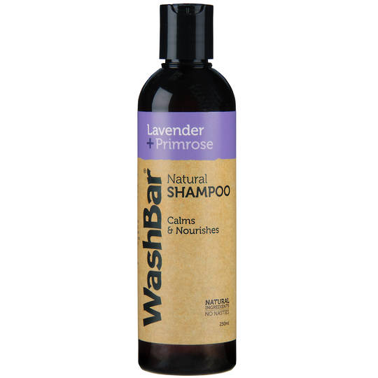 WashBar Natural Shampoo - Lavender & Primrose - 250ml
