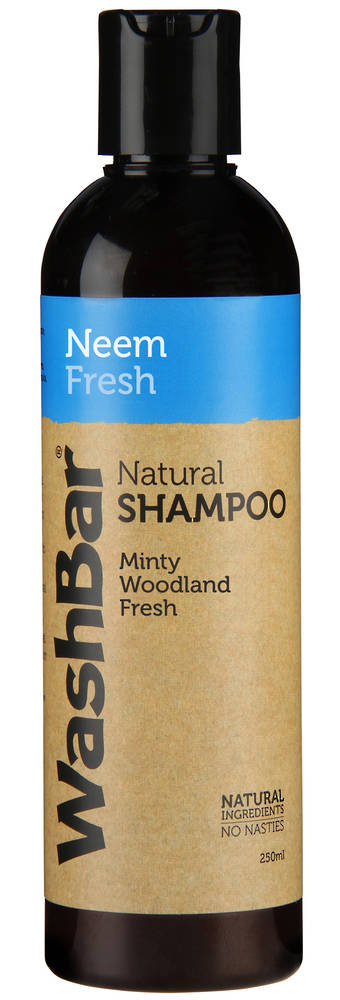 WashBar Natural Shampoo - Neem & Fresh - 250ml