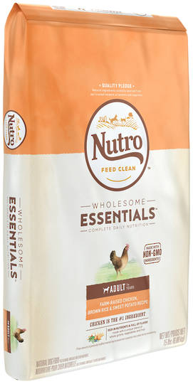 Nutro Wholesome Essential Adult Dog - Chicken, Whole Brown Rice & Sweet Potato Recipe - 6.8kg