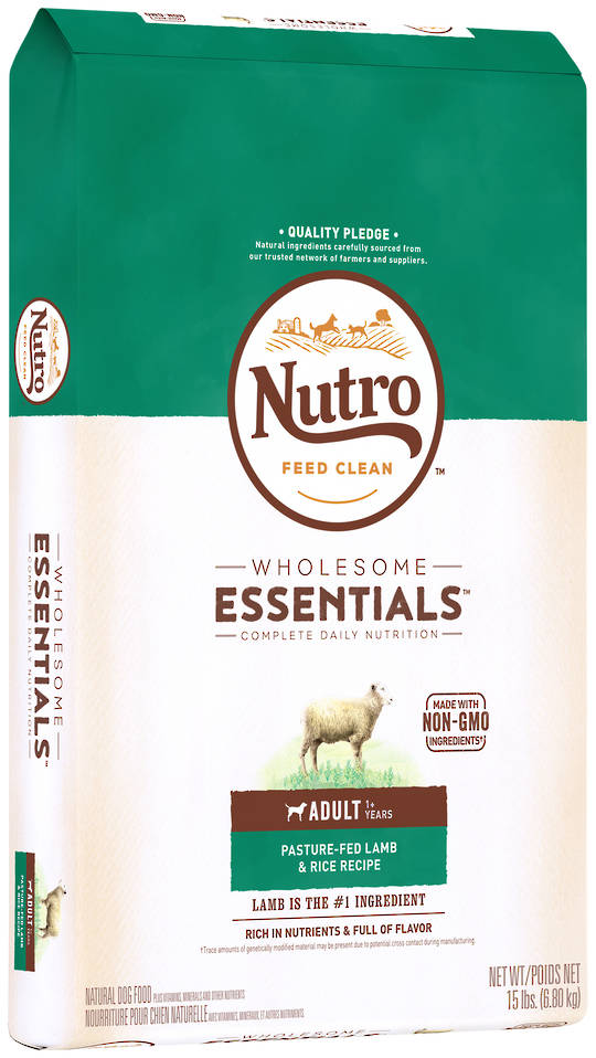 Nutro Wholesome Essential Adult Dog - Lamb & Brown Rice Recipe -6.8kg