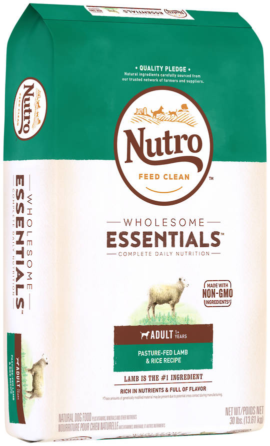 Nutro Wholesome Essential Adult Dog - Lamb & Brown Rice Recipe - 13.61kg
