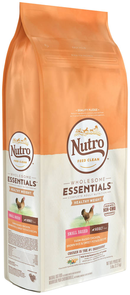 NUTRO Wholesome Essential / Lite Weight LossSmall Breed Adult Dog - Chicken, Whole Brown Rice & Sweet Potato Recipe -2.27kg