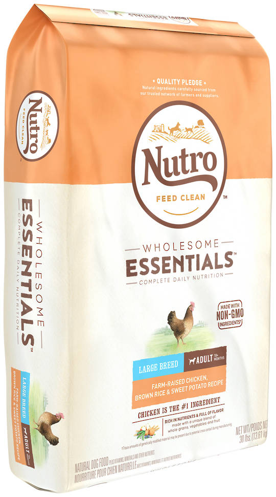 Nutro Wholesome Essential Large Breed Adult Dog - Chicken, Whole Brown Rice & Sweet Potato Recipe - 13.61kg