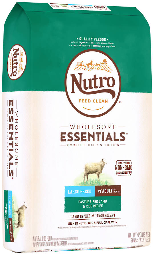 Nutro Wholesome Essential Large Breed Adult Dog - Lamb & Brown Rice Recipe - 13.61kg