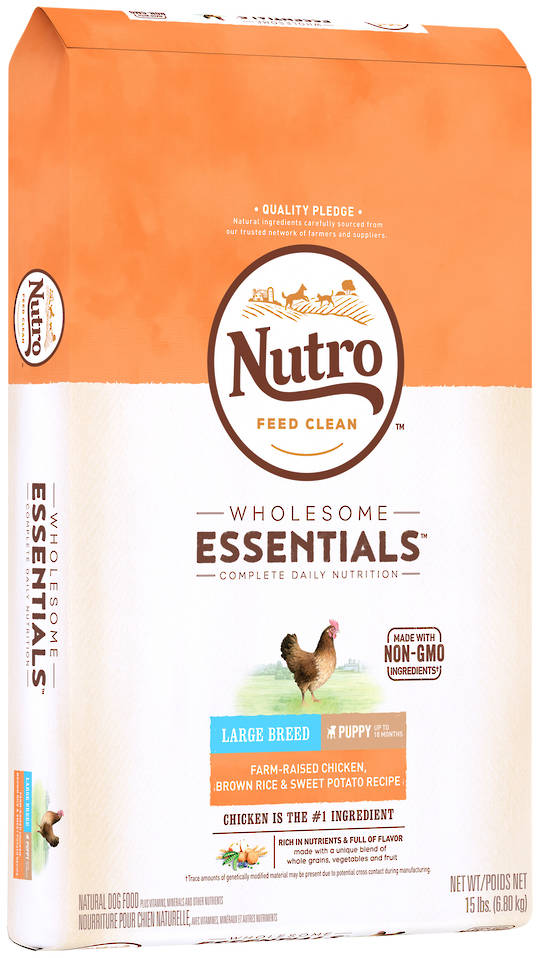 Nutro Wholesome Essential Large Breed Puppy - Chicken, Whole Brown Rice & Sweet Potato Recipe - 6.8kg