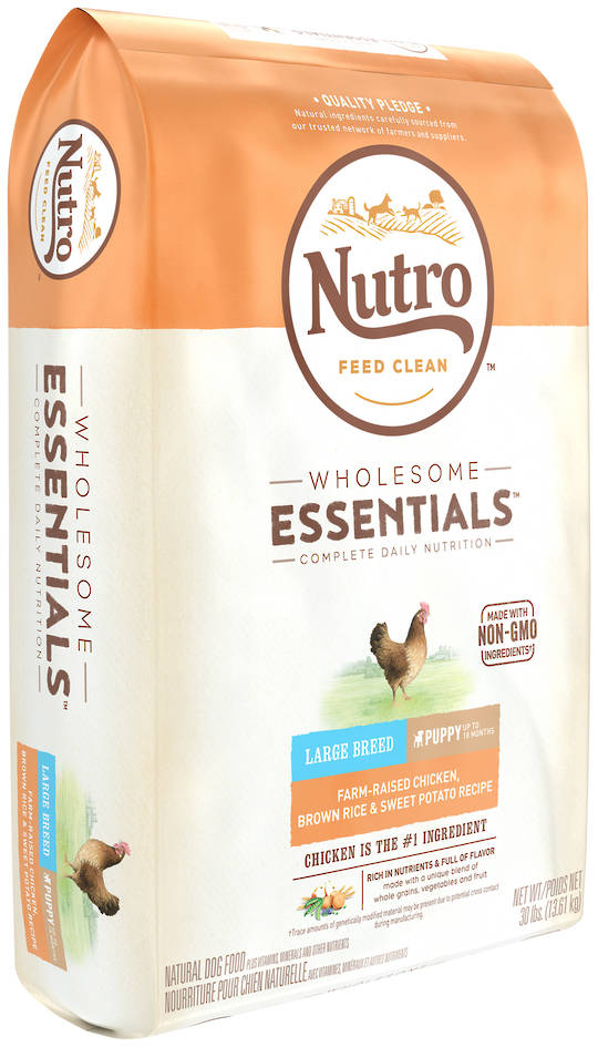 Nutro Wholesome Essential Large Breed Puppy - Chicken, Whole Brown Rice & Sweet Potato Recipe - 13.61kg