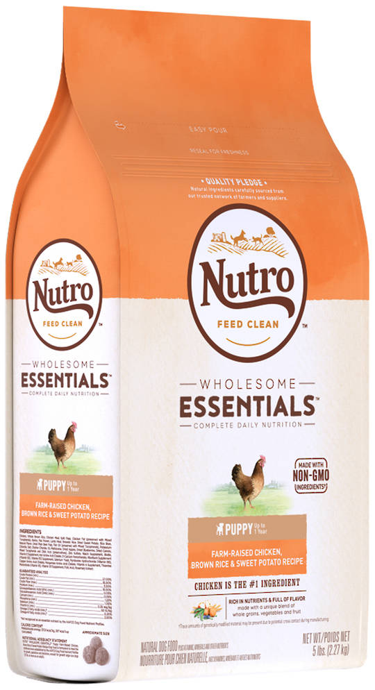 Nutro Wholesome Essential Puppy - Chicken, Whole Brown Rice & Sweet Potato Recipe -2.27kg