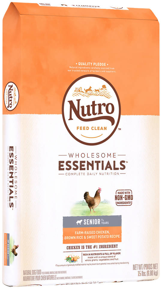 NUTRO Wholesome EssentialSenior Dog - Chicken, Whole Brown Rice & Sweet Potato Recipe - 6.8kg