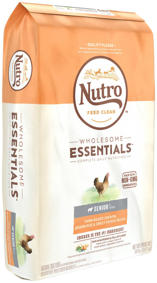Nutro Wholesome Essential Senior Dog - Chicken, Whole Brown Rice & Sweet Potato Recipe