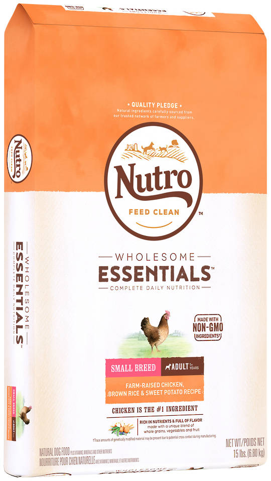 Nutro Wholesome Essential Small Breed Adult Dog - Chicken, Whole Brown Rice & Sweet Pot