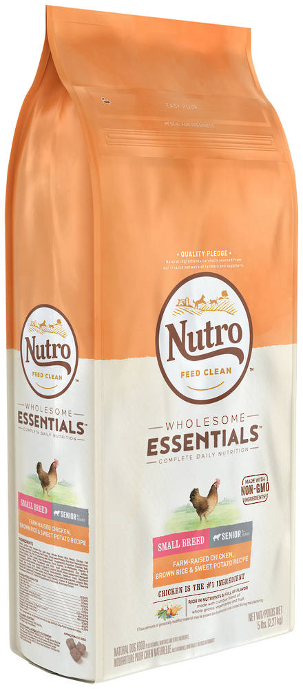 Nutro Wholesome EssentialSmall Breed Senior Dog - Chicken, Whole Brown Rice & Sweet Potato Recipe - 2.27kg
