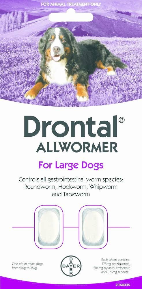 Drontal Allwormer Tablet for Dogs (20-35kg) 2tablets