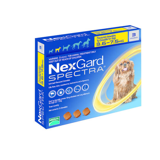 NexGard Spectra Chewables Flea & Worm Treatment for Small Dogs (3)